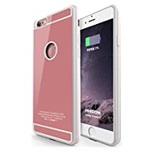 Qi wireless Charging Receiver Case for iPhone 6 / 6s, Qi Wireless Charging Receiver Back Cover TPU Soft Case with Flexible Lightning Connector [1A Upgrade], Rose Gold