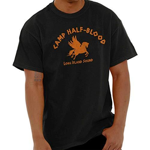 Brisco Brands Camp Half Blood Greek Mythology Movie Gym T Shirt Tee Black