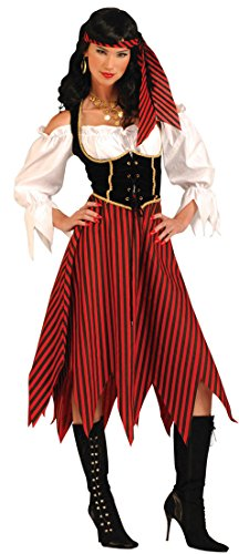 Forum Novelties Women's Pirate Maiden Plus Size Costume, Multi Colored, Standard X-Large - Caribbean Pirate Maiden Costumes