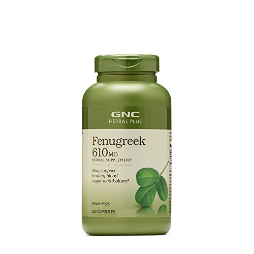 GNC Herbal Plus Fenugreek 610MG 200 caps