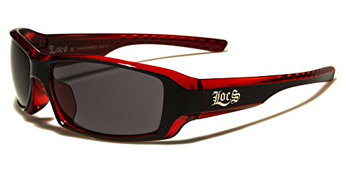 Locs Two Tone Original Gangsta Shades Fashion Statement Translucent Frame - Shades Biker