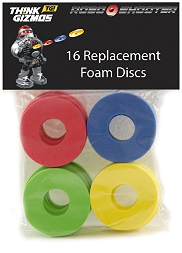 New Mannequin RoboShooter by ThinkGizmos Distant Management Robotic – Spare Foam Disks Solely (pack of 16)  Evaluations