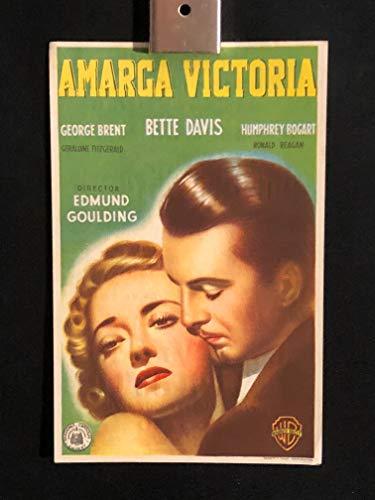 Dark Victory 1939 Original Vintage Spanish Herald Program Movie Poster, Bette Davis, Humphrey Bogart, George Brent