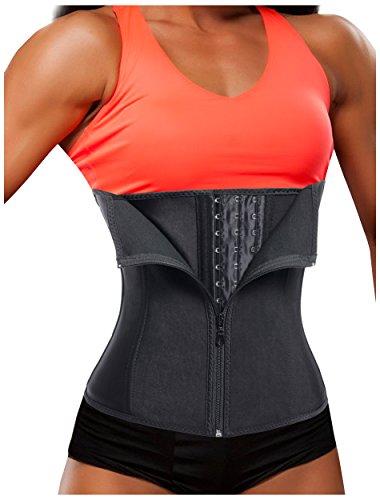 4bf2bab19 Galleon - Gotoly Women Latex Waist Trainer Corset Zipper Underbust Cincher  Belt Weight Loss Body Shaper (Black