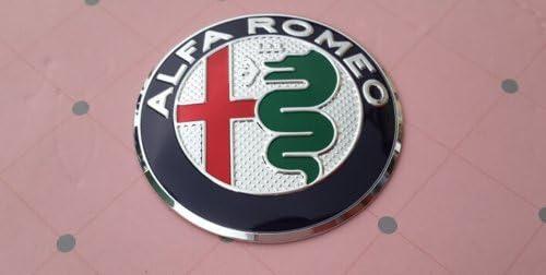 AOWIFT - 7 tapacubos de Volante con Logotipo de Alfa Romeo: Amazon ...