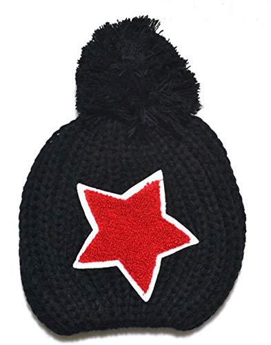 IRENE Baby Knitted Winter Warm Hats Stars Baby Beanie Children Cap Black