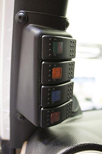 Daystar Jeep Jk Wrangler A Pillar Switch Pod Includes 4