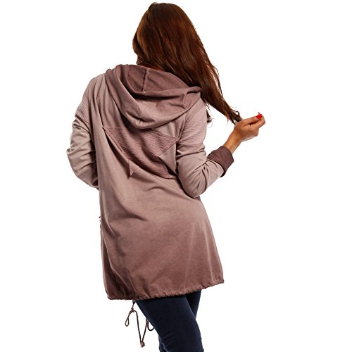 Bordeaux Tunique Uni Femme Italy Manches Made Pull Longues wqHfER06