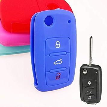 Llavero de silicona con tapa para VW Golf Polo Passat Skoda ...