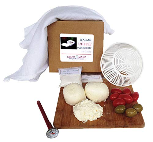 Grow and Make DIY Italian Cheese Making Kit - Learn how to make fresh mozzarella and ricotta cheese at home!