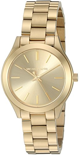 Michael Kors Women's Mini Slim Runway Gold-Tone Watch MK3512