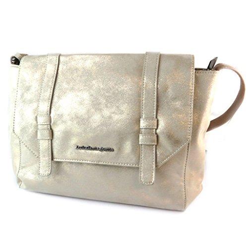 Bolsa de diseñador 'Lulu Castagnette'de oro - 38x25x9 cm.