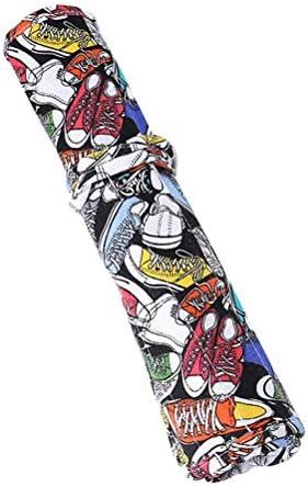 YeahiBaby 22 Druckschlitze Malerpinselhalter Leinwand Langlebig Rollup für Künstler Pinsel Malerei Aquarellfarbe Werkzeug Stifte