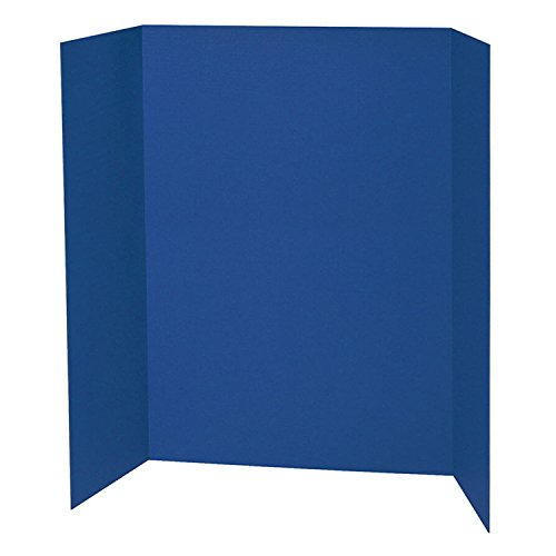 Black Presentation Board - Spotlight 1 Ply Trifold Display Board, 48