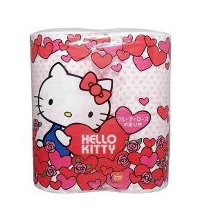 [3 Pack Set F/s Japan Import Hello Kitty Toilet Tissue Paper 4 Rolls Rose Aroma] (Funny Pop Culture Costume Ideas)