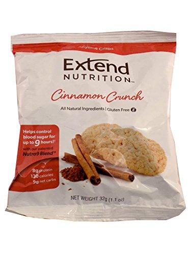 Extend Crisps, Cinnamon, 1.1 oz. Bags (Pack of 5)