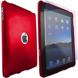 ONX3 iPad Red protectora piel caso de Apple Gel + LCD Protector de pantalla