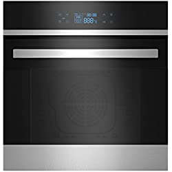 "Empava 24"" Tempered Glass LED Digital Touch Controls Electric Built-in Single Wall Oven 2800W 110V, Black"