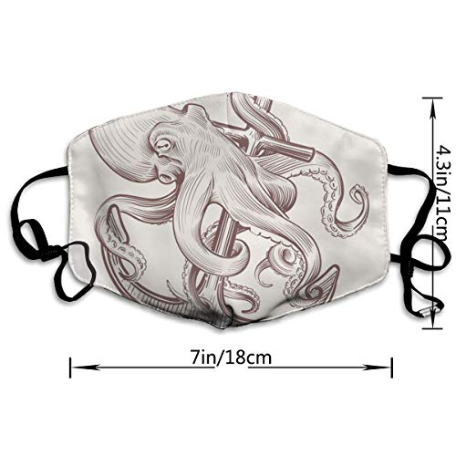COMputer998 Fish Pattern (2) Face Mask Dust Mask Anti Pollution Unisex Mouth Mask,Washed Reusable Polyester Face Mask,Can Be Repeatedly Used
