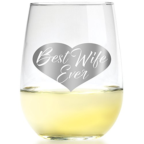 Best Wife Ever Wine Glass - Romantic
