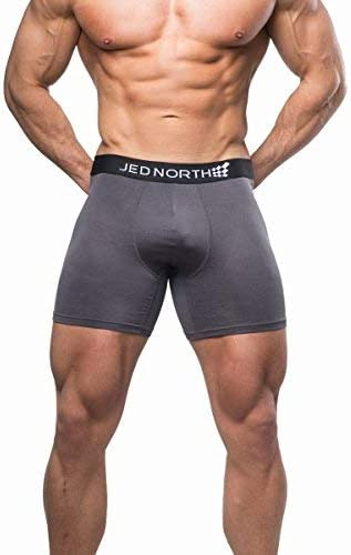 Jed North Mens 2-Pack Athletic Performance Boxer Brief Underwear for Gym and Workout