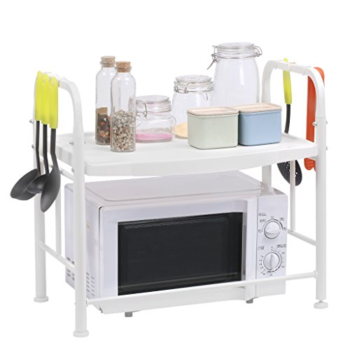 Kitchen Collapsible Storage Rack Stainless Steel Rack (White) - 7