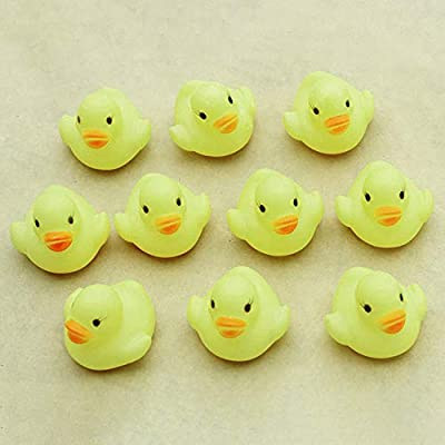10 pcs Rubber Ducky Bath Toy for Kids, Sandistore Float and Squeak Mini Small Ducks Bathtub Toys for Shower/ Birthday/ Party Supplies: Toys & Games