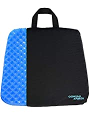 Gel Chair Seat Cushion Comfort Breathable - Provide Relief for Lower Back,Coccyx,Sciatica,Tailbone or Hip - Orthopedic Design Seat Pad for Wheelchair,Car,Office Chairs - Prevent Sweaty Bottom