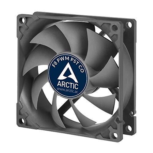 🥇 ARCTIC F8 PWM PST CO – 80 mm Ventilador de Caja para CPU con PWM Sharing Technology
