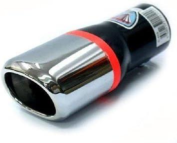 Endrohr Auspuff Blende Auspuffrohr Chrom Auspuffendrohr Universell Schalldampf Endstück Endrohrblende Sportauspuff Optik Tuning 38 42mm Auto