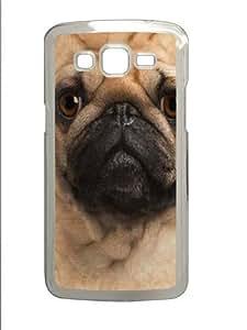 Big Pug Face Custom Samsung Grand 7106/2 Case Cover Polycarbonate Transparent by icecream design