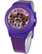 L.O.L. Surprise! Light Up Purple Digital Watch with Pop Up Cover