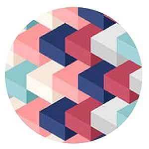 alfombrilla de ratón cubos de colores sin patrón - ronda - 20cm