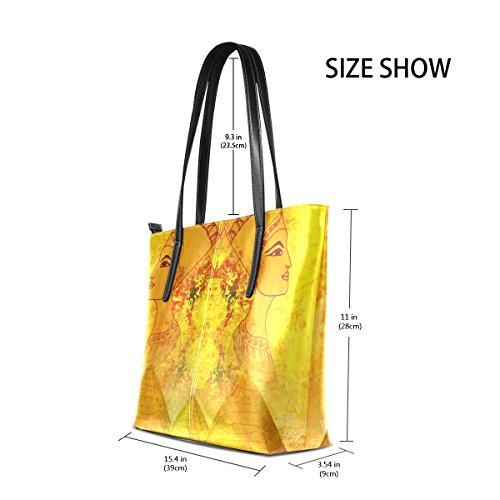 a6b1e83628eef9 Coosun altes Papier mit ägyptischer Königin PU Leder Schultertasche  Handtasche und Handtaschen Tasche für Frauen ...