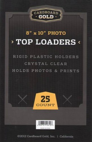 """Cardboard Gold 8"""" x 10"""" Photo Top Loaders (25ct) - Next Generation Archival Protection"""