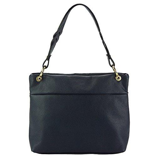 With Dark High Mafalda Blue Leather Bag Shoulder 9120 Quality qgFvx