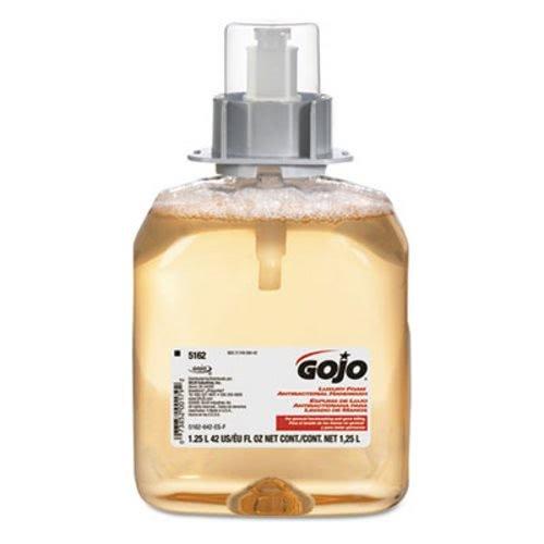 GOJO 5162-03 X Luxury Foam Antibacterial Soap Refill, 1250 mL Refill for GOJO® FMX-12™ Dispenser