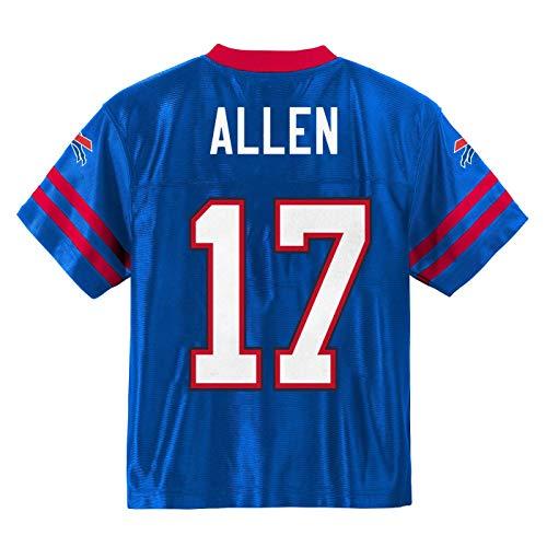 Outerstuff Josh Allen Buffalo Bills #17 Blue Youth Player Home Jersey (Medium 10/12)
