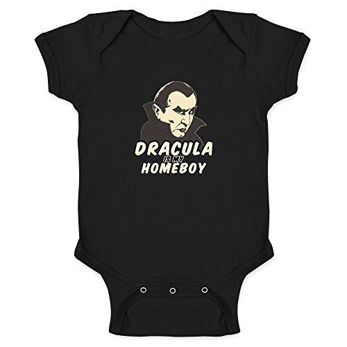Pop Threads Dracula is My Homeboy Halloween Costume Vampire Black 6M Infant Bodysuit -