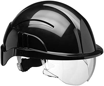 Vistion Plus - Casco de seguridad con visera integrada, color ...