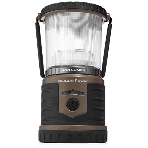 - Brightest LED Rechargeable Lantern | Hurricane, Camping, Storm | Power Bank Light | 400 Hour Runtime (400 Lumen, Taupe)