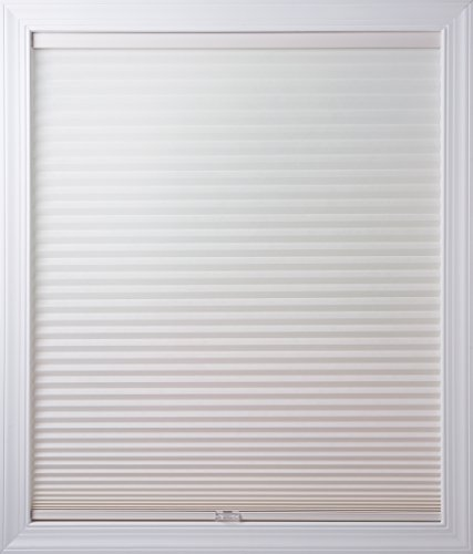 New Age Blinds Light Filtering Inside Frame Mount Cordless Cellular Shade, 26-1/2 x 48-Inch, White Dove