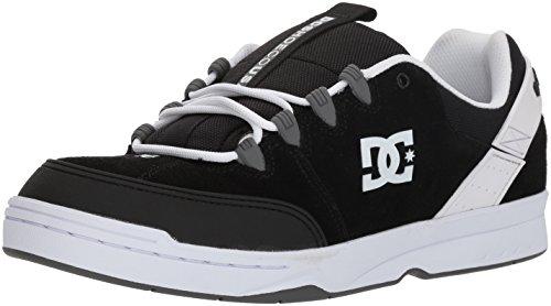 DC Men's Syntax Skateboarding Shoe Black/Grey