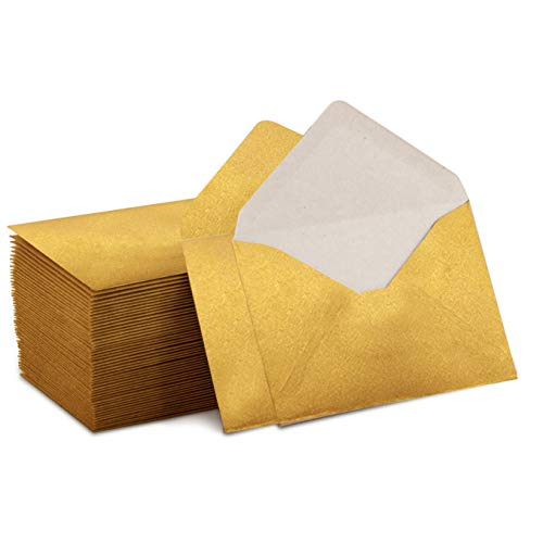 Mini Envelopes Gold 4