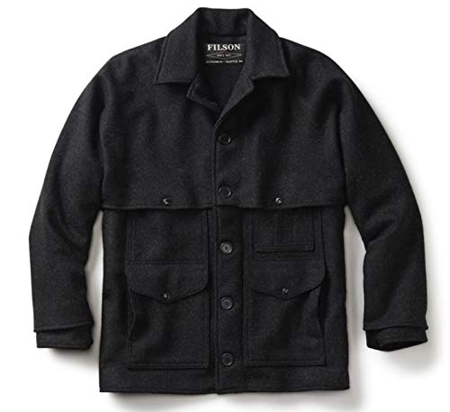 Filson Double Mackinaw Wool Cruiser Jacket Charcoal Large