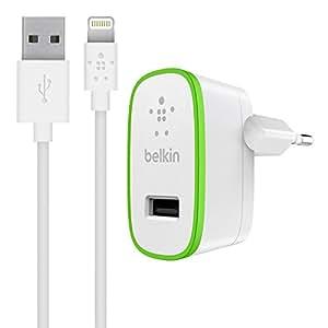 Belkin Boost Up - Cargador para iPad / iPhone 5 / iPhone 8/8+/ X (USB 2.0, 12 W, 2.4 A, 1.2 m) blanco