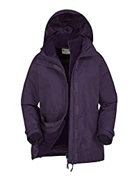 Mountain Warehouse Fell Women's 3 in 1 Water Resistant Jacket & Inner Fleece
