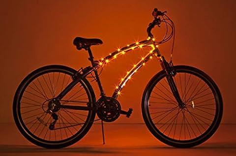 Brightz, Ltd. Cosmic Brightz LED Bicycle Frame Light, Orange - Frame One Light