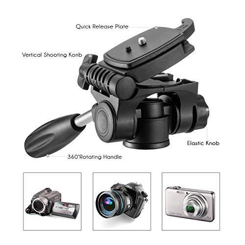 Trípode Cámara Reflex– Mactrem Trípode Completo Flexible con Rótula para DSLR EOS Canon Nikon SONY – Trípode para Viajes (Color: Naranja)