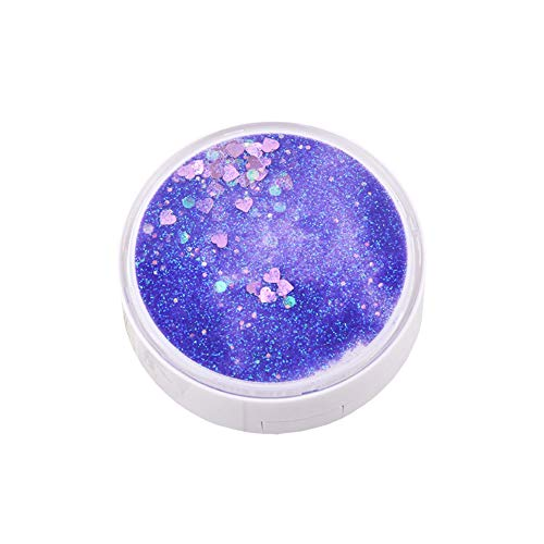 1PC Contact Lens Case Fashion Contact Lens Case Portable Travel Glitter Luxury Bling Liquid Quicksand Eye Care Set Purple